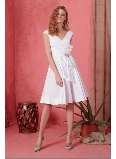GIZIA Elbise Beyaz